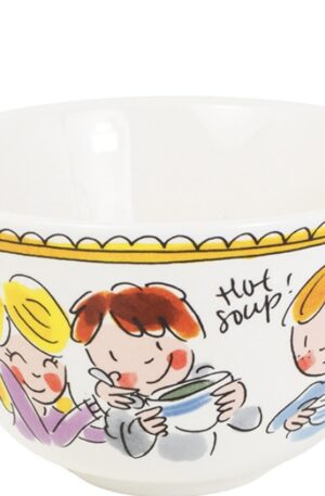 BOWL 14 CM RED TEXT €8,95